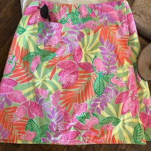 Colorful Lilly Pulitzer reversible wrap skirt
